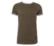 Shirt 'rgln Strucstripe' khaki