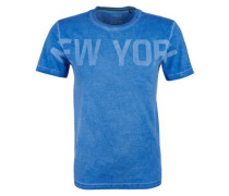 Pigment Dye-Shirt mit Wording