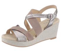 Sandalette 'riccione' taupe / silber