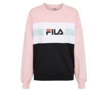 Sweatshirt 'Angela' rosa / schwarz / weiß