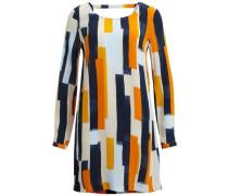 Rückendetail-Kleid blau / orange / weiß
