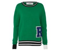 Pullover 'Mesh' navy / grün