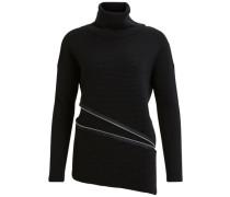 Reißverschluss Pullover schwarz