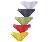 Pikee-Slips gelbmeliert / graumeliert / hellgrün / rot / naturweiß