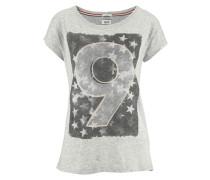 T-Shirt »Iris« mit Frontprint grau