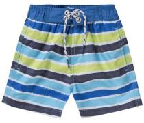 Badeshorts für Jungen blau / hellgrün