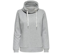 Einfarbiges Sweatshirt grau