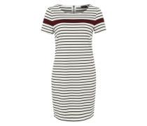Jerseykleid 'VITinny' schwarz / weiß