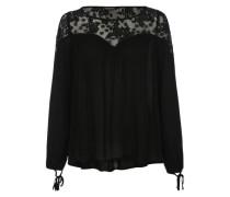 Spitzenshirt im Boho-Style schwarz