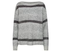 Pullover hellgrau / schwarz / silber