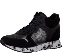 Sneaker mit Material Mix mischfarben
