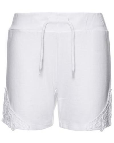 Sweat-Shorts 'nithittie' weiß