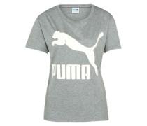 T-Shirt 'Archive Logo' graumeliert / weiß