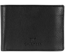 Little Geldbörse Leder 105 cm schwarz