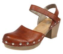 Sandalen mit Nieten rostbraun