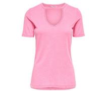Choker-T-Shirt pink
