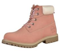Stiefelette rosa / weiß