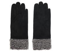 Handschuhe graumeliert / schwarz
