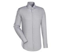 City-Hemd 'Slim Fit' beige / weiß
