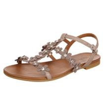 Sandalen mit Blumendetails grau