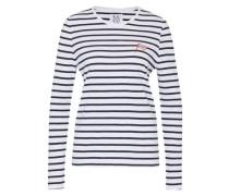 Shirt mit Streifen blau / weiß