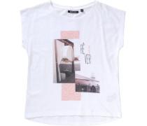 T-Shirt für Mädchen rosa / weiß