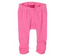 Leggings mit Pünktchen pink