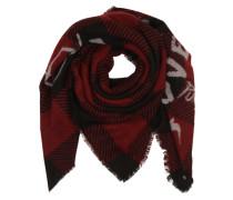 Schal mit Print rot