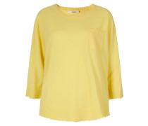 Kaschmirpullover mit Brusttasche gelb