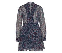 Floral-Dress 'woven' blau