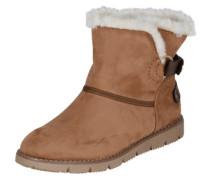 Snowboot mit Webfell-Futter camel