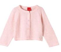 Melierte Strickjacke rosa