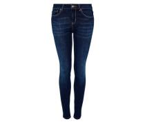 Skinny Jeans mit dunkelblauer Waschung blue denim