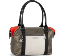Handtasche City Art S KC brokat / rot / schwarz / weiß