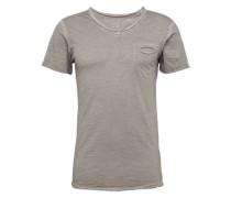 T-Shirt 'Soda' mit V-Ausschnitt silber