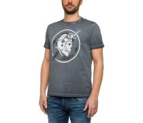 T-Shirt mit Rocker-Print dunkelgrau