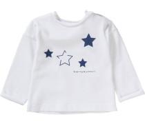 Baby Langarmshirt Sterne weiß