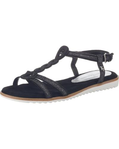 Sandalen hellbraun / schwarz / weiß