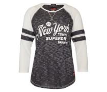 Shirt 'brooklyn Baseball' schwarz / weiß