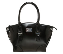 Handtasche im Lacklook schwarz