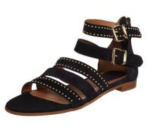 Sandale mit Nieten navy / braun / gold