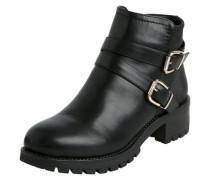 Detailreiche Stiefel schwarz