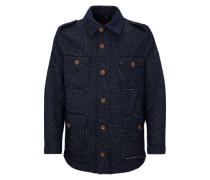 Jacke aus italienischer Wolle blau