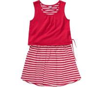 Kinder Kleid rot / weiß