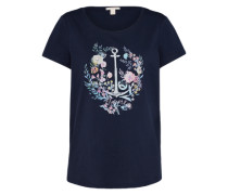 T-Shirt 'Floral Anchor ' navy