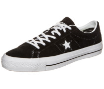 Cons One Star Hairy Suede Sneaker schwarz