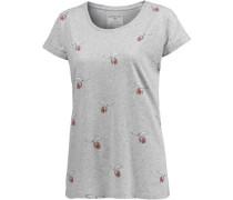 T-Shirt Damen graumeliert