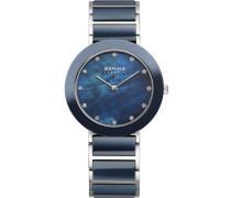 Armbanduhr blau