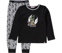 Schlafanzug 'Star Wars' für Jungen graumeliert / schwarz