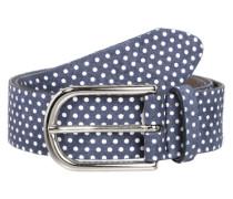 Gürtel mit Polka Dots blau / weiß
